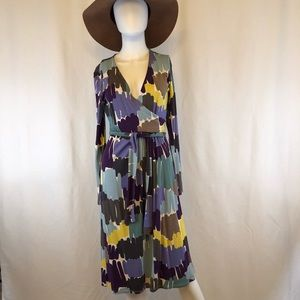 NWOT GORGEOUS Boden Faux Wrap Dress 8 Long